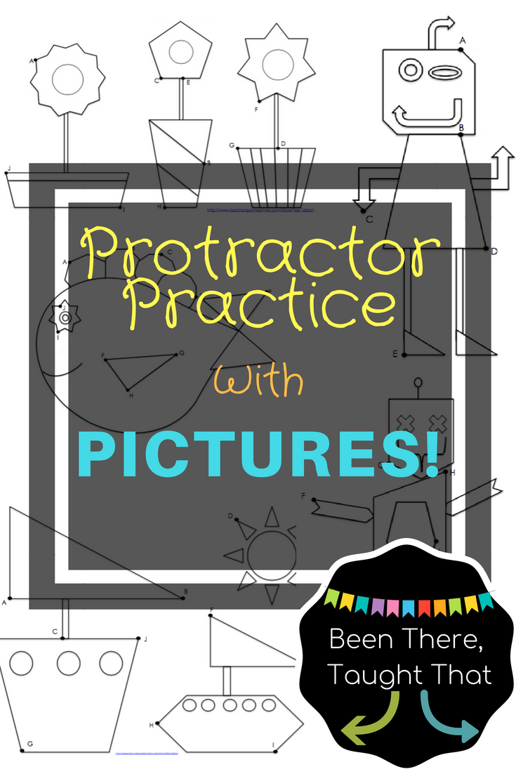 Measure Angles Protractor Practice With Pictures And Digital Learning Elementary Math Digital Learning Go Math [ 1102 x 735 Pixel ]