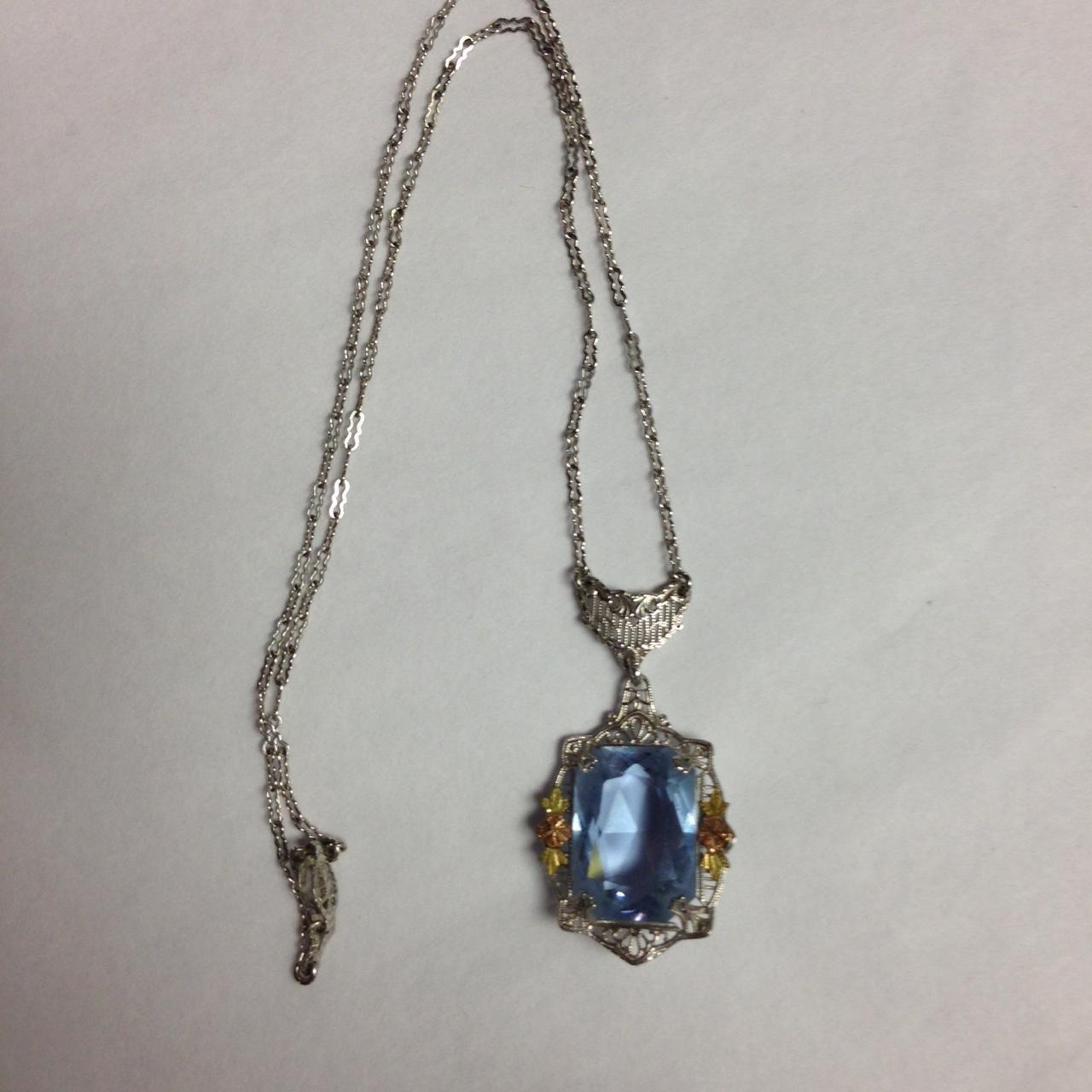 Art Deco Lavalier Necklace