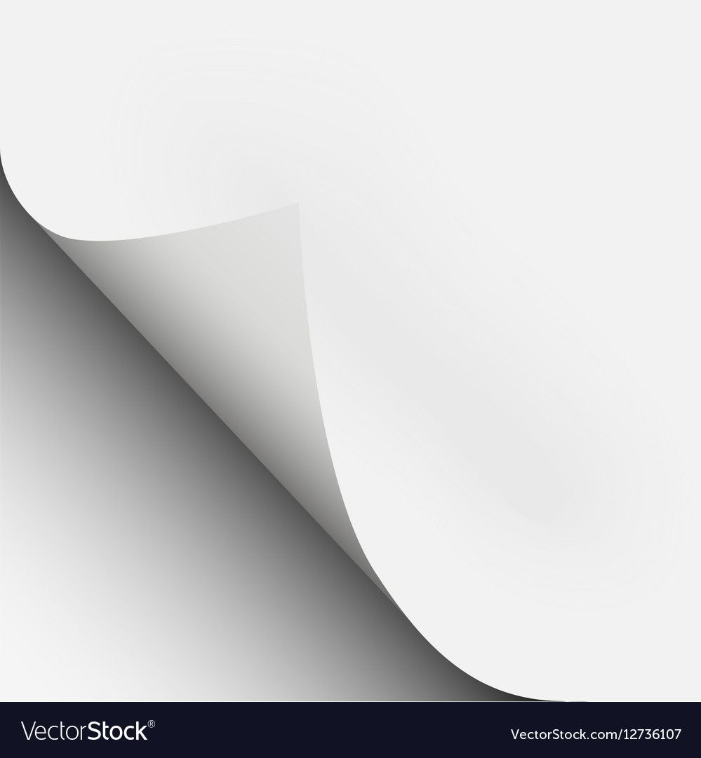 Page Curl Corner Fold With Shadow On A Blank Sheet Of Paper Download A Free Preview Or High Quality Adobe Illustrator Ai Eps Fold Vector Free Sheet Of Paper