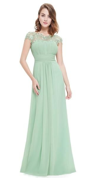 535470c1c55b KATIE Dress - Pale Sage Green - Belle Boutique UK. Ever-Pretty Ever Pretty  Women's Cap Sleeve Lace Neckline Ruched Bust Evening… Chiffon Dress