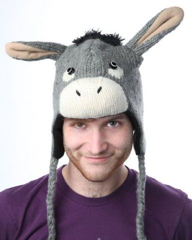 b079874dd donkey hat for christmas performance | holidays | Winter hats, Hats ...
