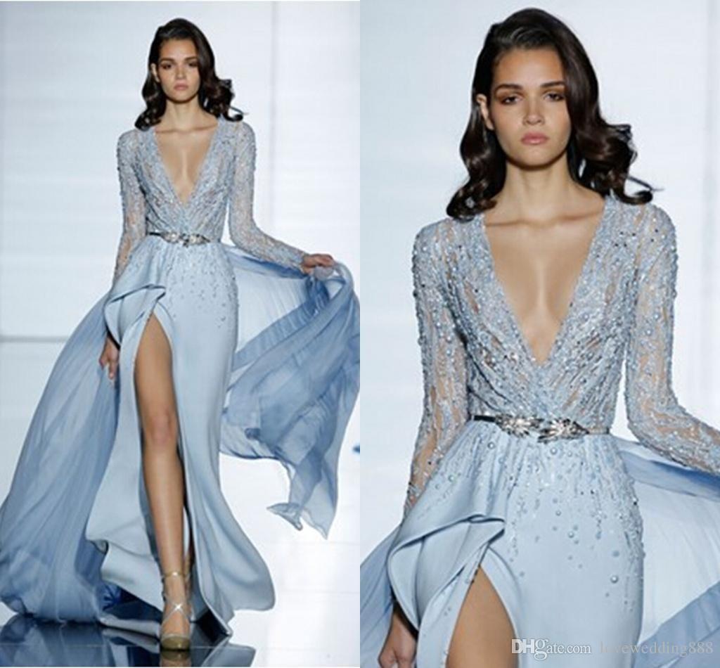 Cheap 2015 Zuhair Murad New Sexy Sheath Fashion Prom Crystal ...