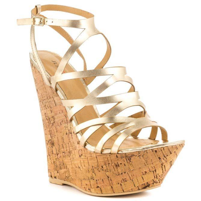 Aryssa - Gold JustFab |  $55 BUY ➜ http://shoespost.com/aryssa-gold-justfab/
