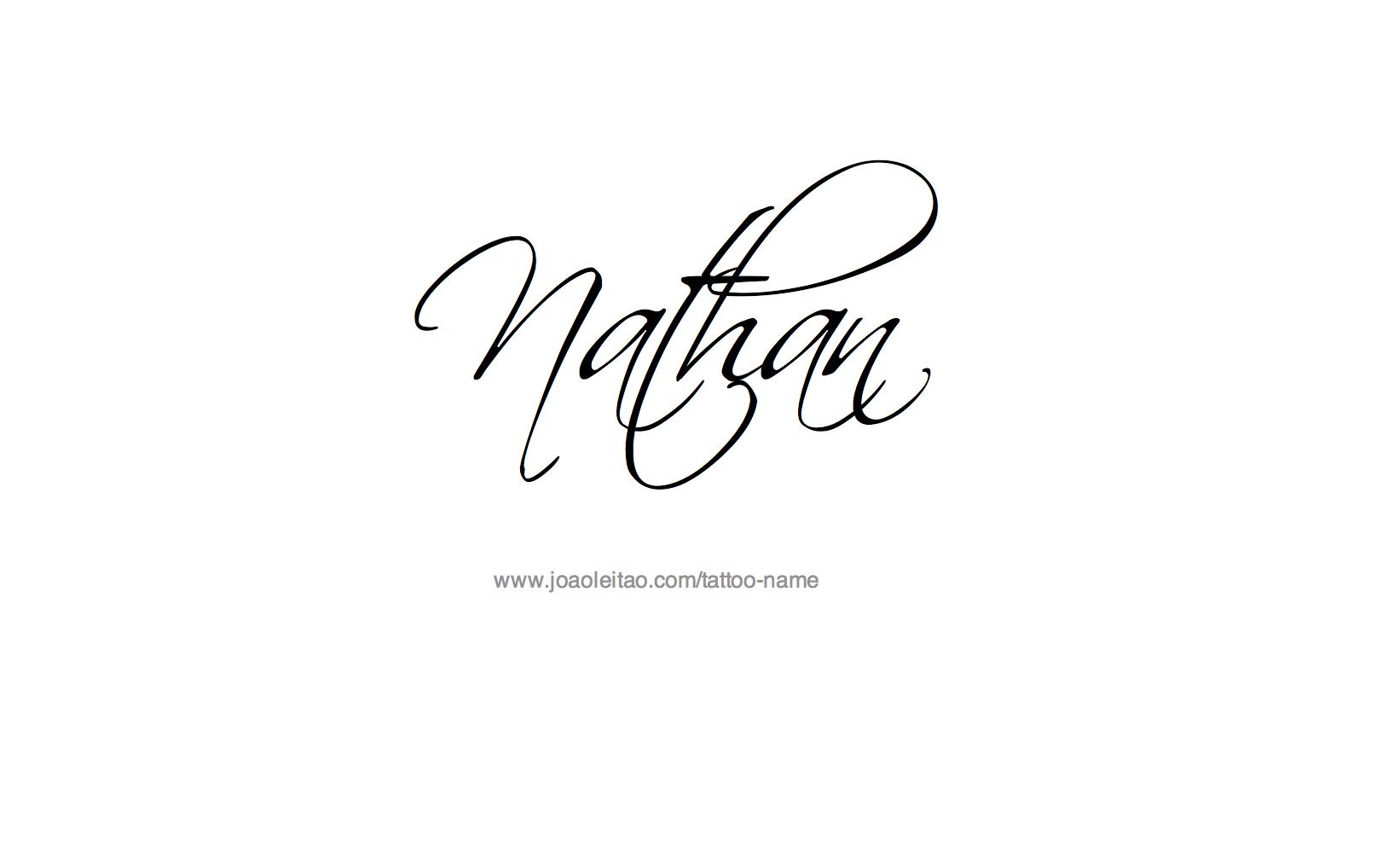 Tattoo name writing designs nathan name tattoo designs  my style  pinterest  tattoos tattoo