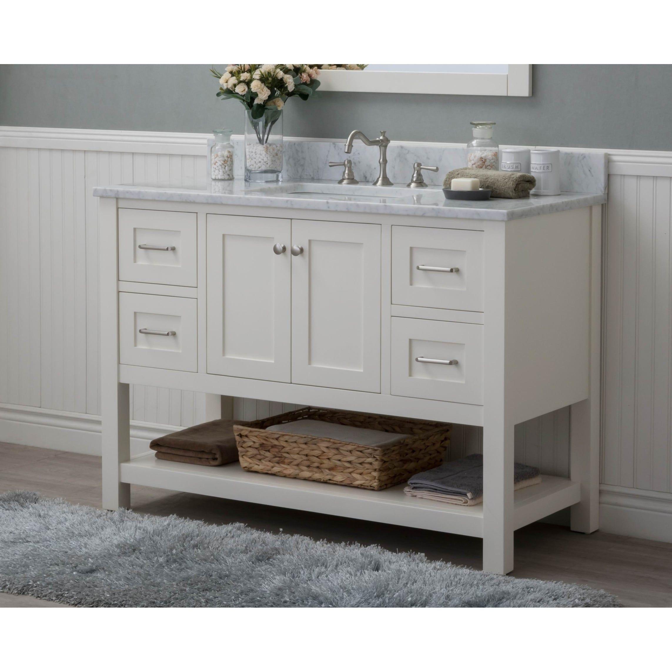 Home elements vl white carrara marble inch cream white