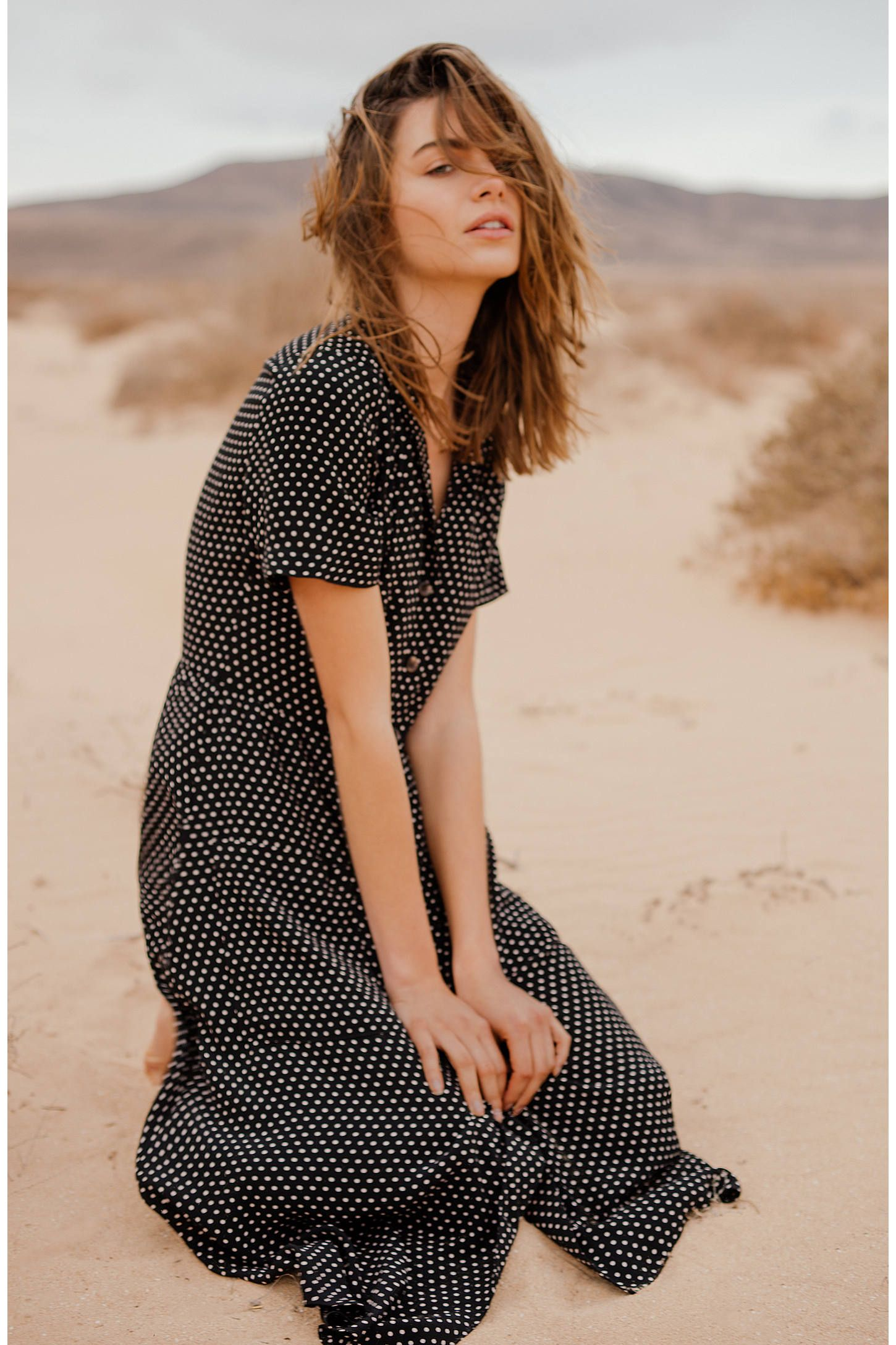 Pins And Needles Clothing Shop Pins & Needles Polka Dot Midi Shirt Dress At Urban Outfitters
