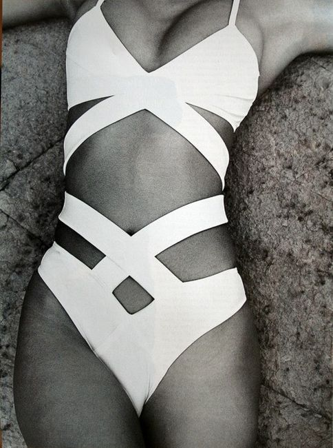 Maybe I should get the bathing suit first and then perfect the body to go in it! Love this white strappy suit!