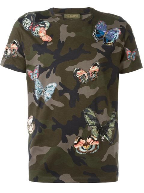 08d9dae6 VALENTINO Butterfly Stitched T-Shirt. #valentino #cloth #t-shirt ...