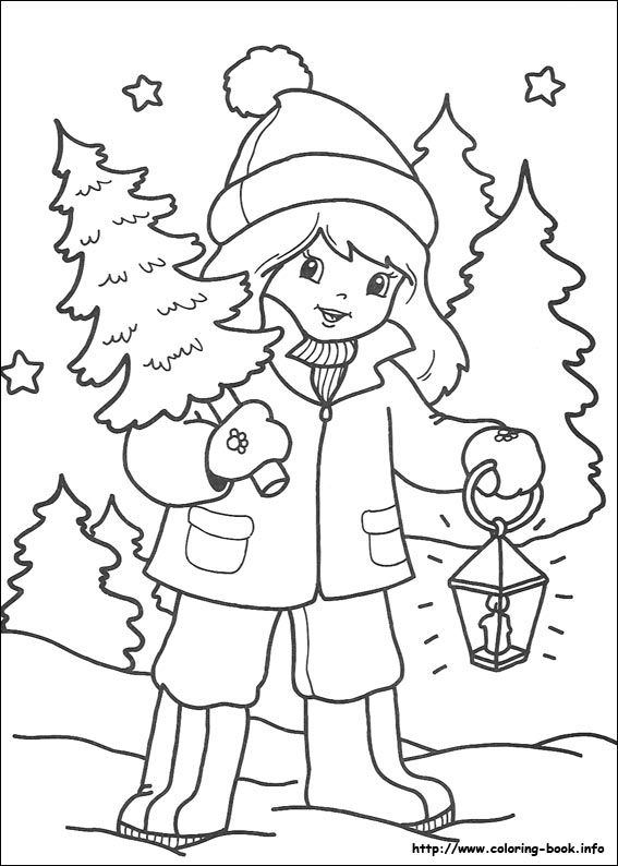 Girl And Christmas Tree Christmas Tree Coloring Page Christmas