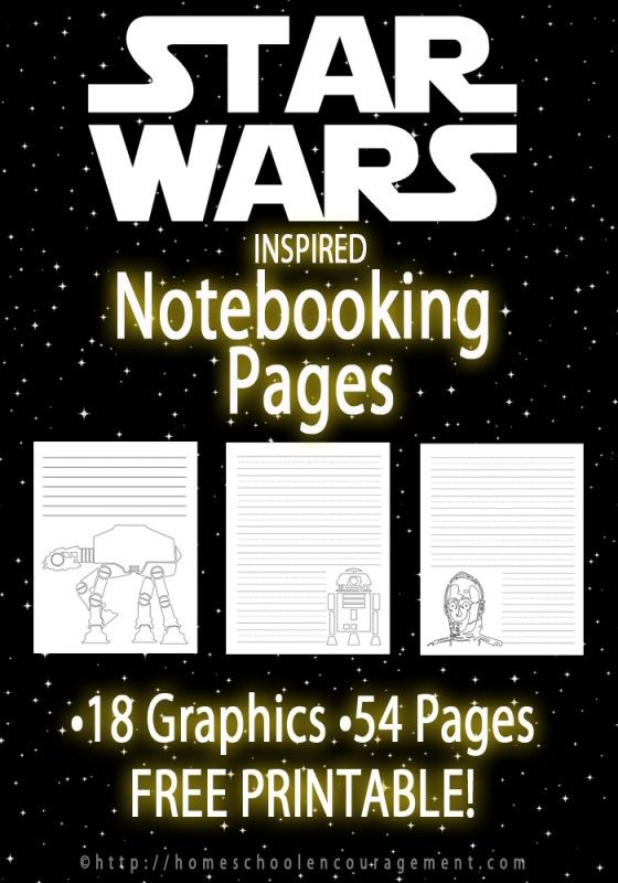 Learning with Star Wars Inspired Notebooking Pages | Basteln und Kind