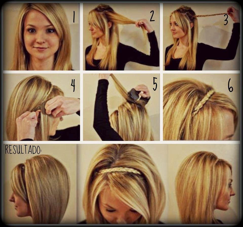 imgenes de peinados sencillos y prcticos muy fcil de hacer paso a paso peinados pinterest imagenes de peinados sencillos imgenes de peinado y