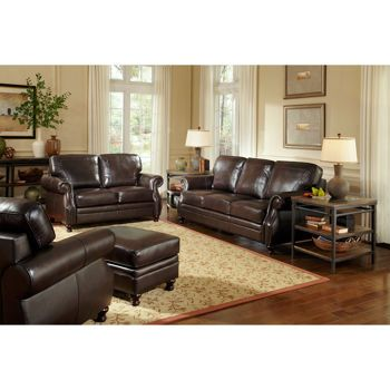 Beckett 4 Piece Leather Set Living Room Sets Leather Living
