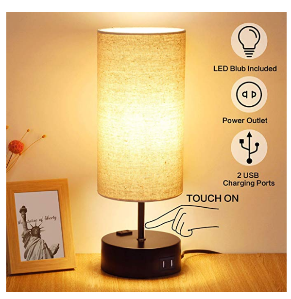 Best Touch Lamp With Usb Port Updated 2020 With Images Touch Lamp Touch Table Lamps Nightstand Lamp