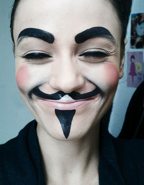 V For Vendetta Makeup Monster Makeup Holloween Makeup V For Vendetta