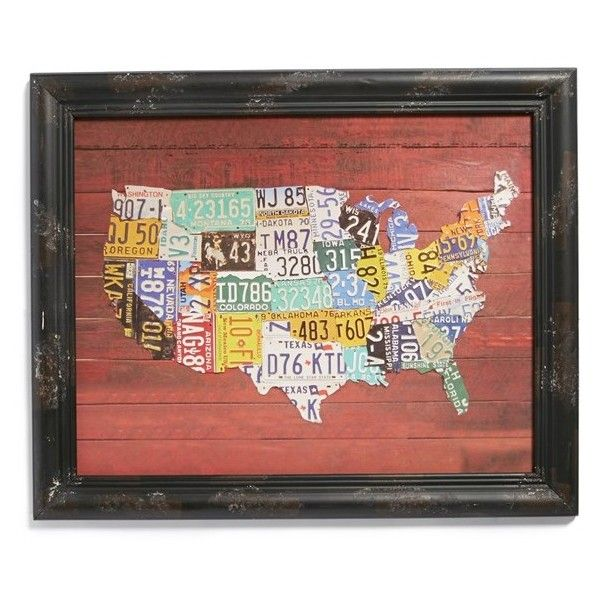 VIP INTERNATIONAL License Plate US Map Print A Place Our Own - Map license plate us