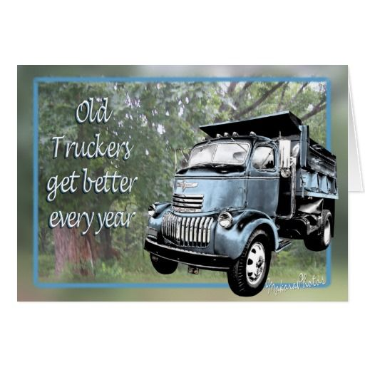 HUMOROUS BIRTHDAY Old Truck Man Broken Down Tire Birthday Greeting Card NEW