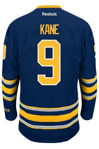 54265125e4d ... Buffalo Sabres Evander KANE 9 Official Home Reebok Premier Replica NHL  Hockey Jersey (HAND ...