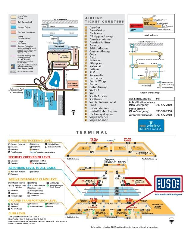 Dulles airport (Washington, DC) | Airport maps | Pinterest | Airport ...