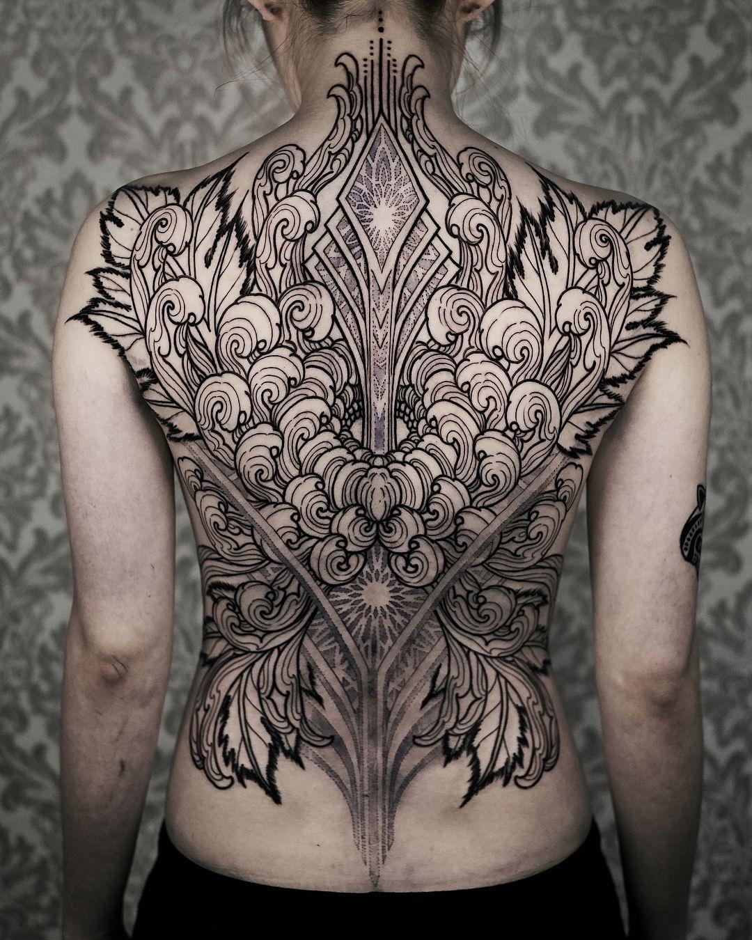 Amazing back tattoo by arangeleven tattoo ideas pinterest
