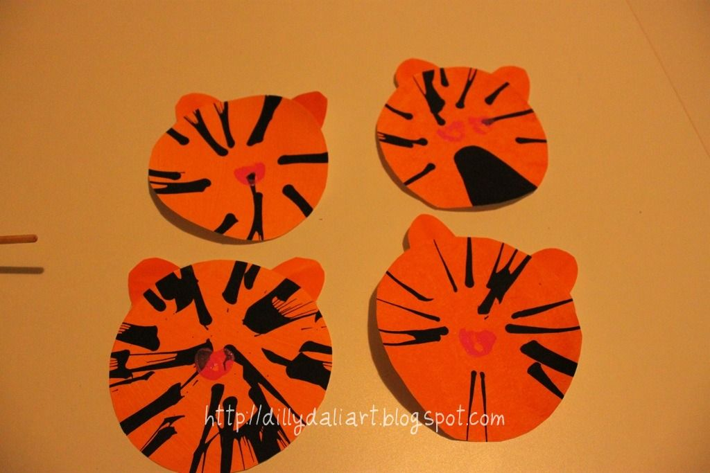 Dilly-Dali Art: Tiger Spin Art