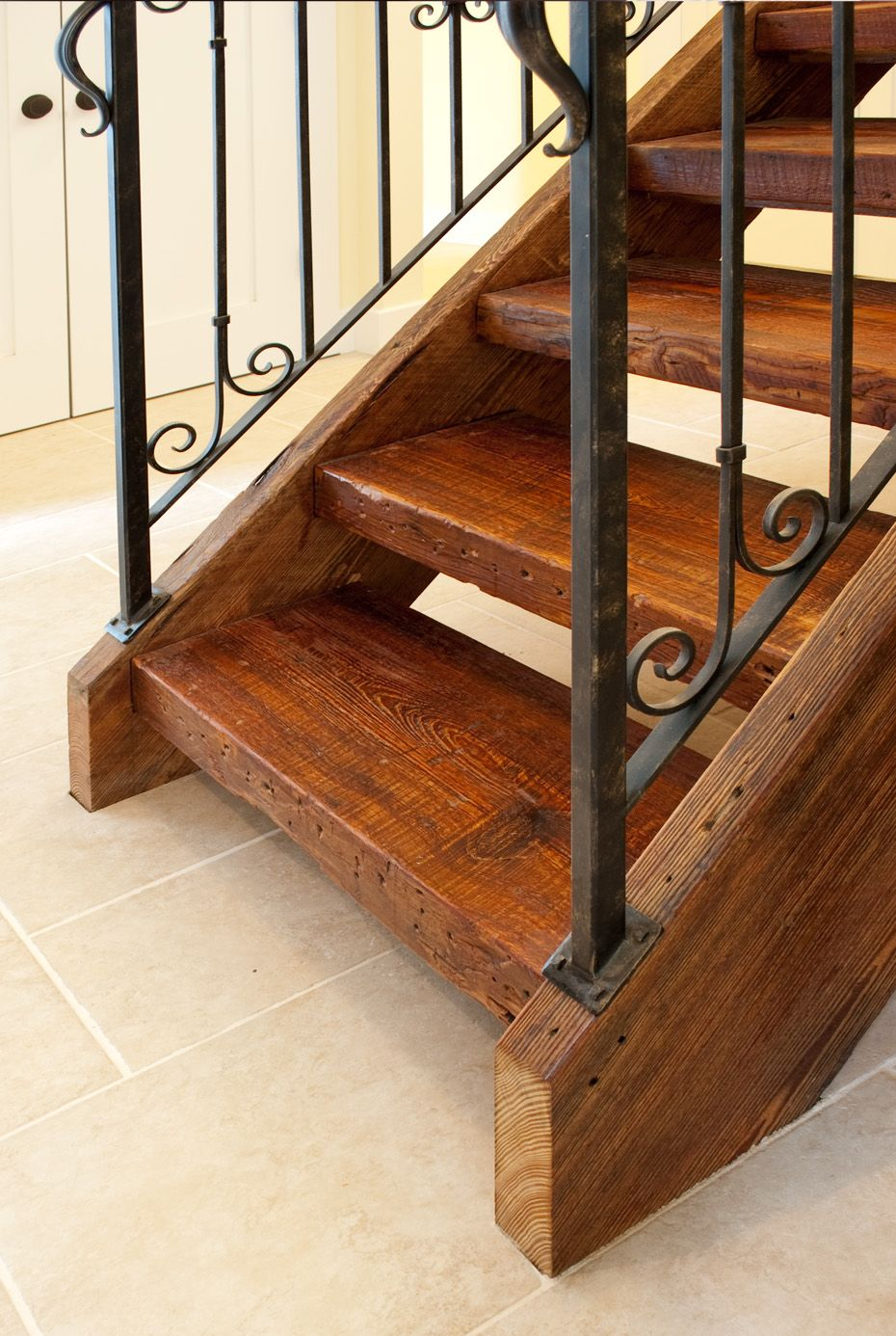 Best Reclaimed Antique Wood Stair Parts Mountain Lumber Company Rustic Stairs Cottage Stairs 400 x 300
