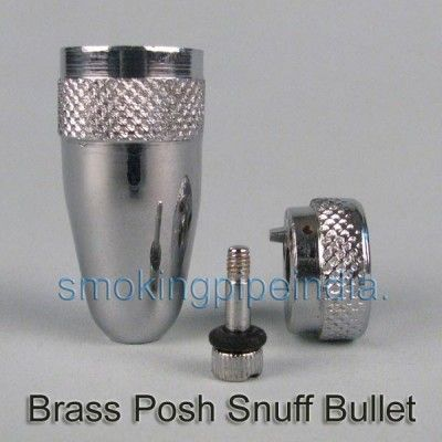 Brass Posh Snuff Bullet | Silver Line World | Pipe supplier