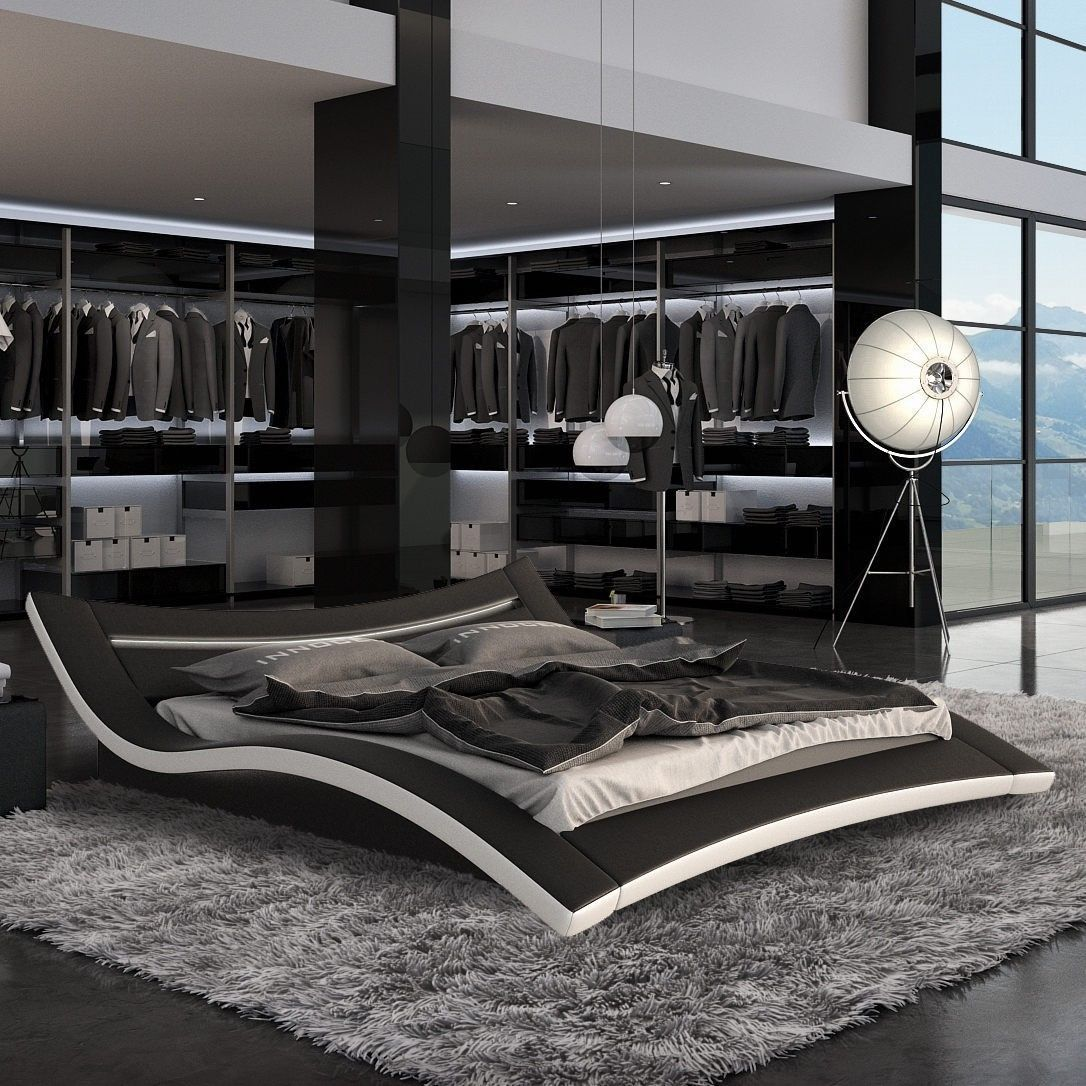 tosh seducce modern black king bed with led lighting pin if you would like to see more great decor ideas for luxury platform beds