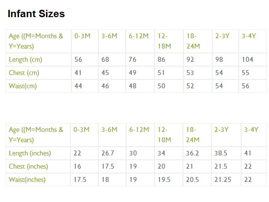 Image Result For Baby Clothing Size Chart Cm