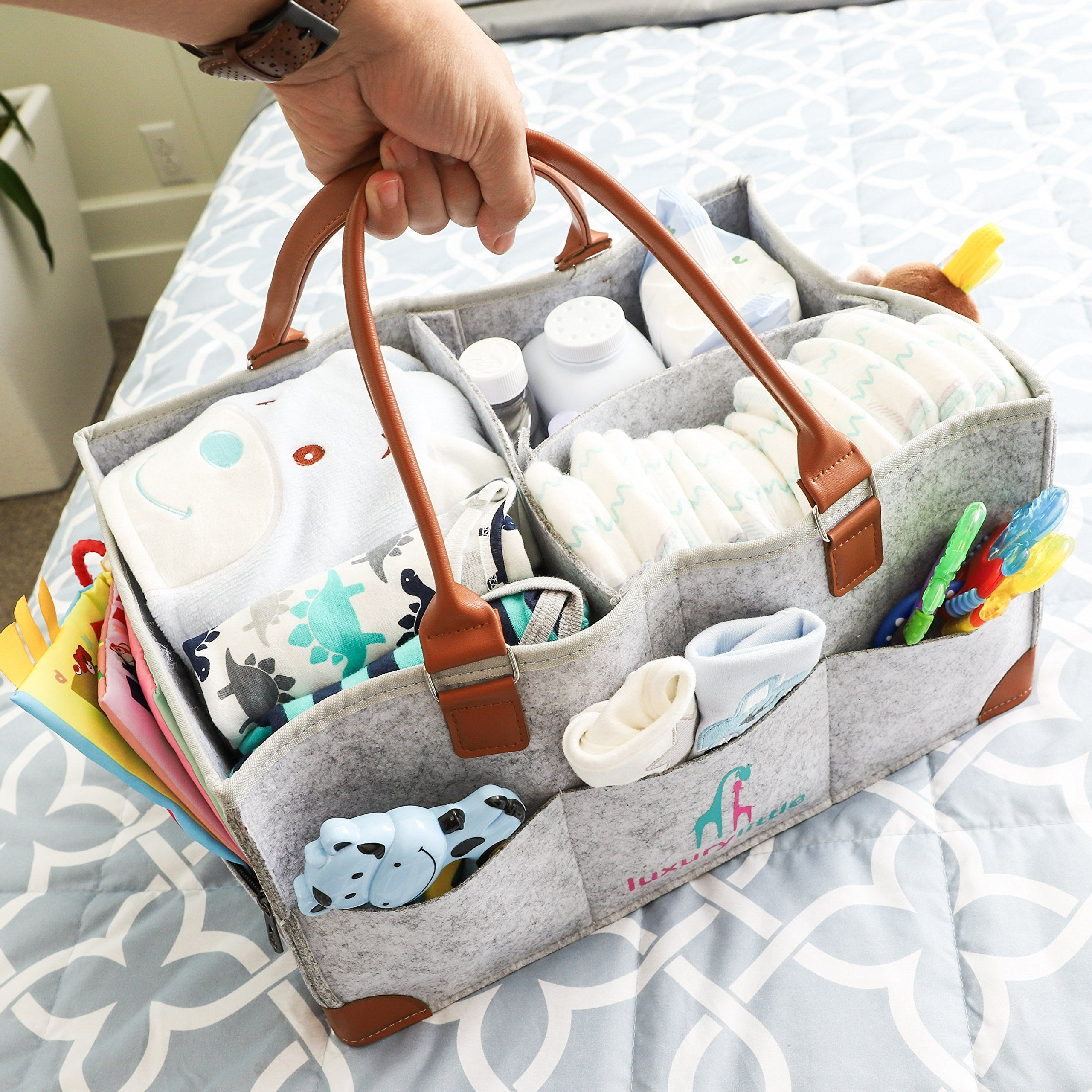 Baby diaper caddy organizer extra large storage nursery