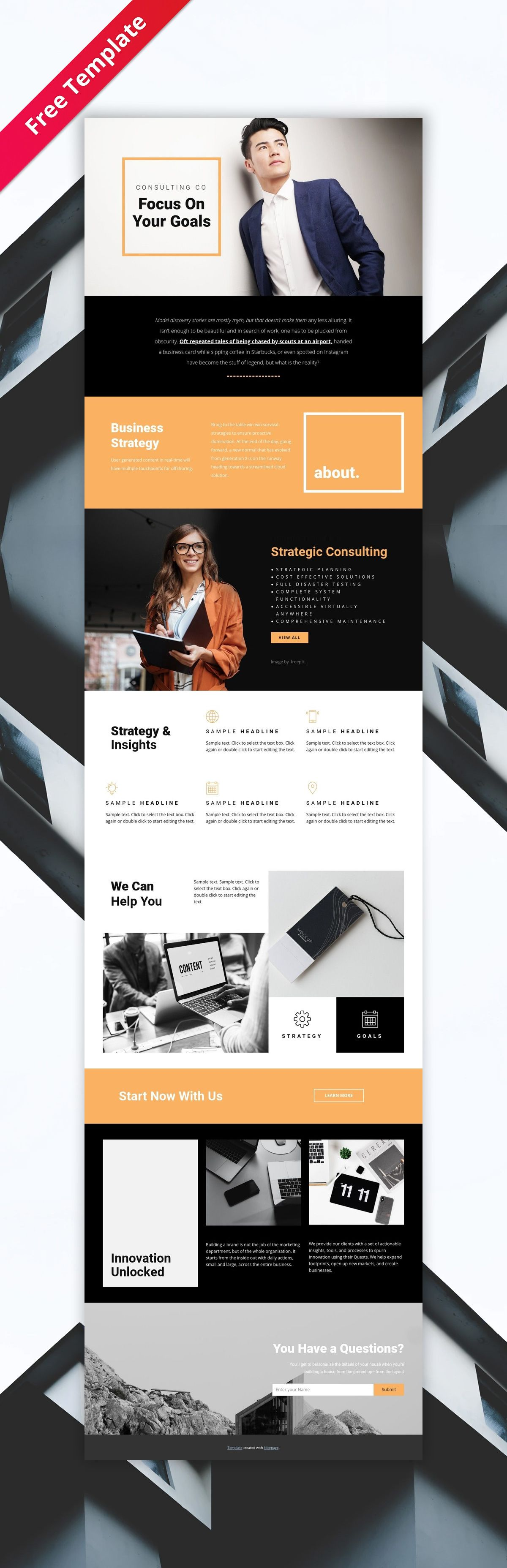 Free Template By Nicepage Builder Free Html Templates Html Website Templates Website Template