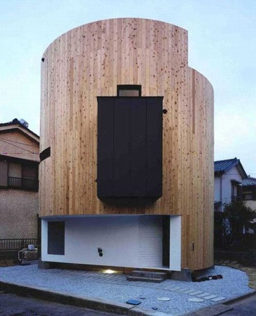 Cylinder house in Japan | Quirky Houses | Pinterest | Architecture on l shaped house designs, hexagonal house designs, triangular house designs, round tree house designs, box house designs, dome house designs, rectangular house designs, pyramid house designs, pallet house designs, pump house designs, square house designs,