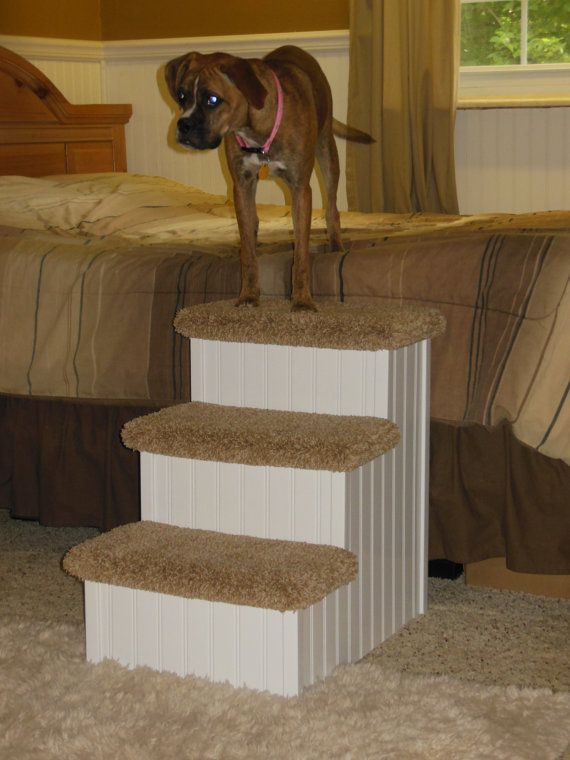Best Dog Step For High Beds Pets 2 80 Lbs 24h X Etsy In 2020 Dog Stairs Dog Steps Pet Stairs