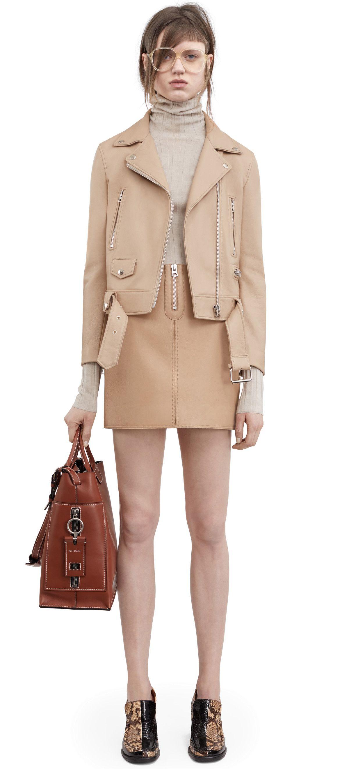 Acne Studios Leather Jacket Outfits Fashion Leather Jacket [ 2639 x 1200 Pixel ]