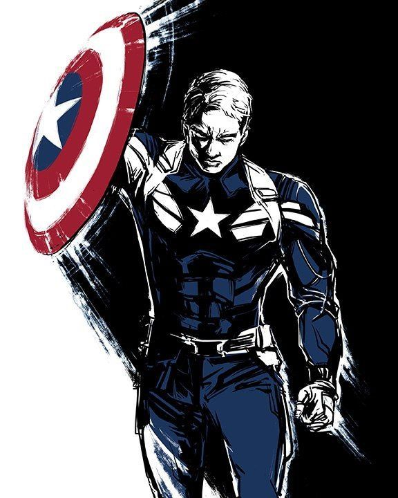 Captain America Steve Rogers Canvas Marvel Print T-Shirt Souvenirs Accessories Avengers Super hero #teedesign