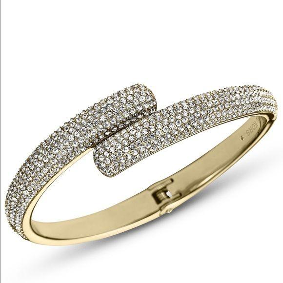 MK Pavé Bracelet Michael Kors Brilliance Pavé Crystal Bracelet in Gold ✨  Comes in MK bag & box originally purchased with   Brand new, never worn!  Michael Kors Jewelry Bracelets