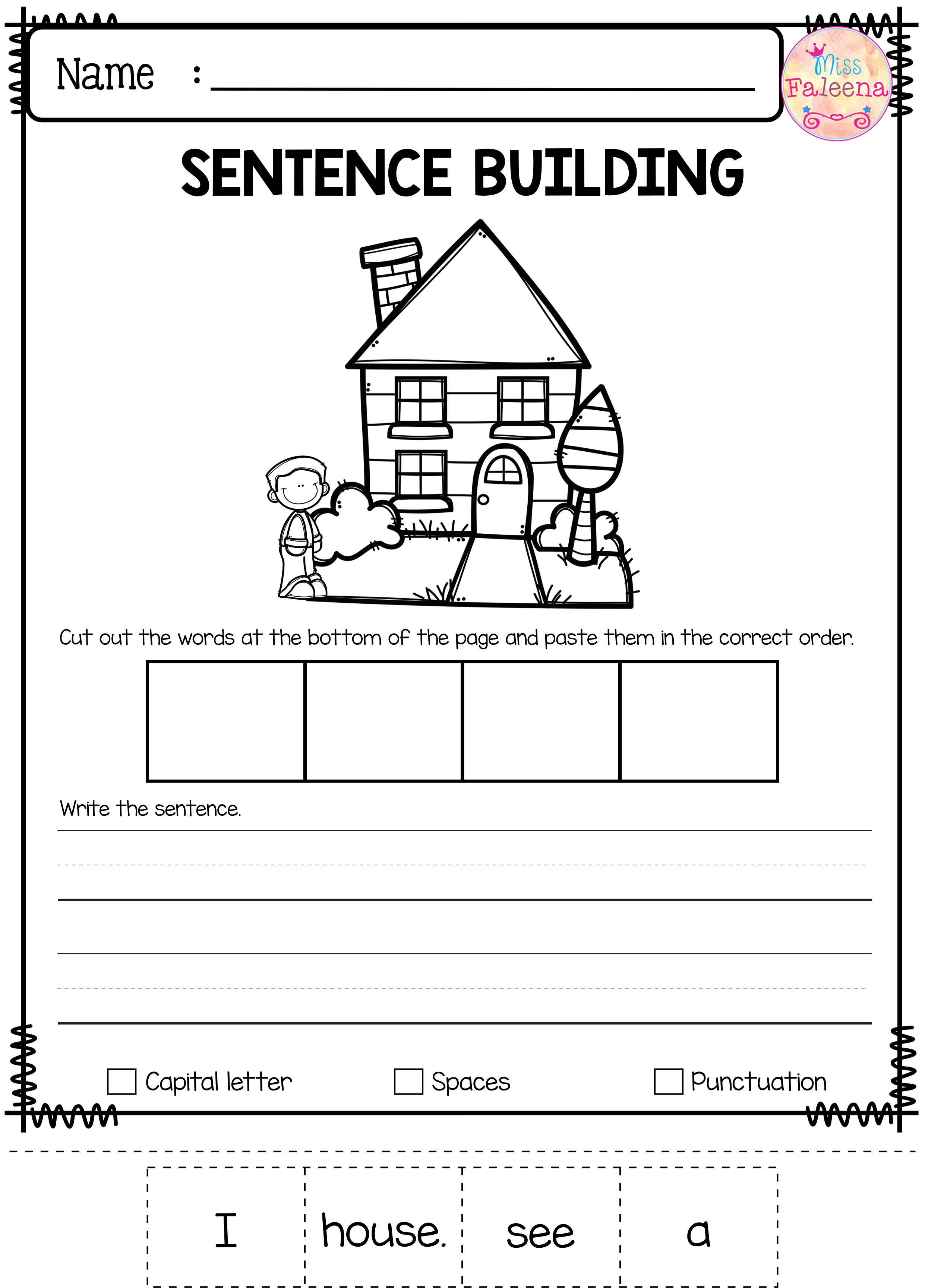 Free Sentence Building With Images Sentence Building