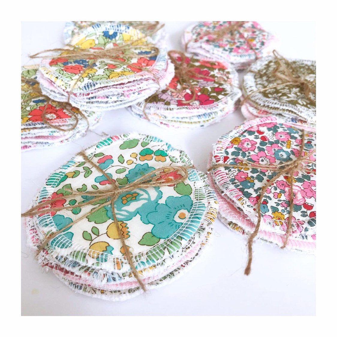 Reusable Liberty and organic cotton rounds / face pads