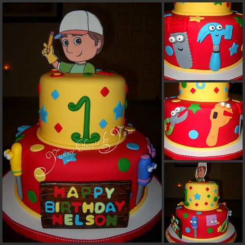 Handy manny cake 2 cake birthdays and birthday party ideas for Handy manny decorations