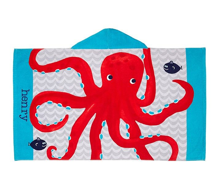 awesome beach towels. Personalized Red Octopus Towel \u0026 Mini - Awesome Beach Towels U