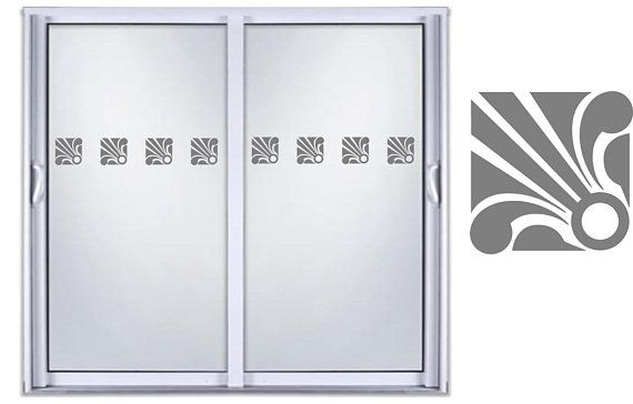 Safety Sliding Glass Door Etched Glass Front Entry Door Vinyl Decal