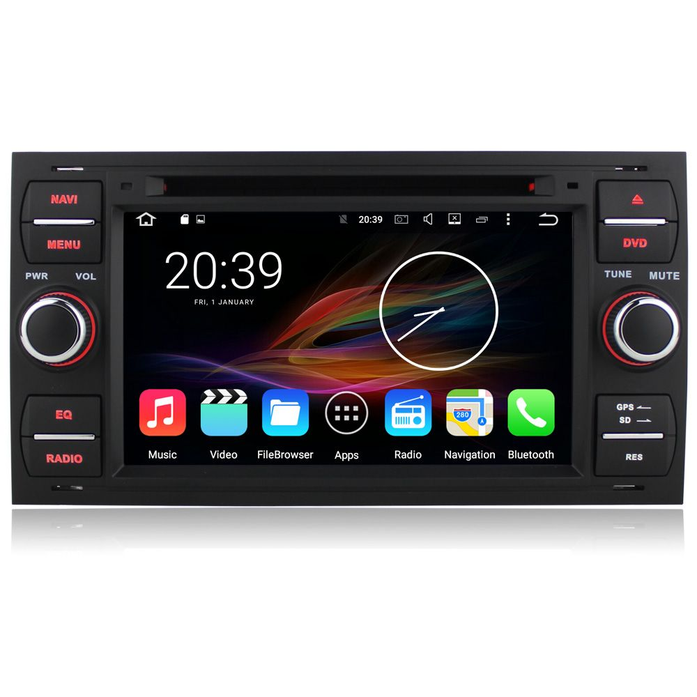 7 Android Car Multimedia Gps Navigation Radio Dvd For Ford Transit Fiesta Fusion Connect Galaxy Kuga Mondeo Focus C Max S Max Gps Navigation Car Ford Transit