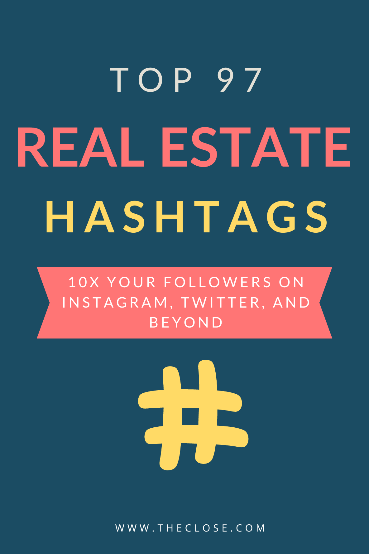 Here are real estate hashtag strategies that will help you 10x your followers on Instagram, Twitter, and beyond. #realestate #sign #ideas #popular #togainfollowers #best #socialmedia #theclose