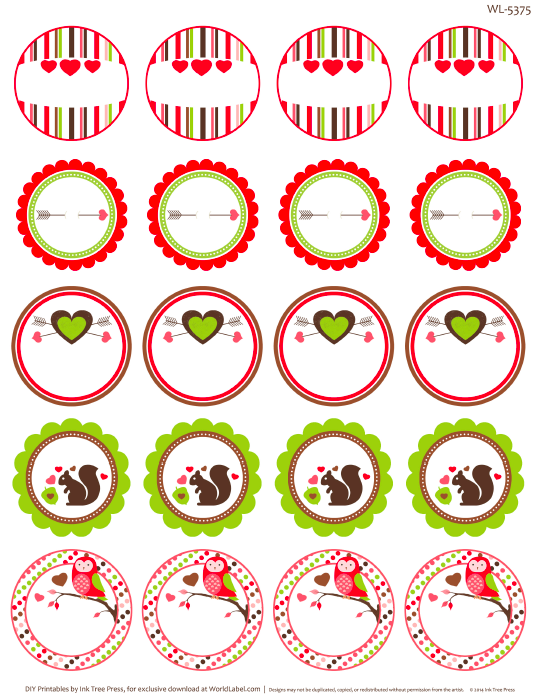 round valentines labels | Printables | Pinterest | Rounding ...