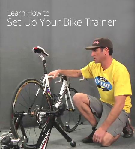 How To Set Up Your Bike Trainer With Images Bike Trainer Bike