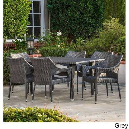 grey woven outdoor dining set - Google Search Talus plan 3 Pinterest