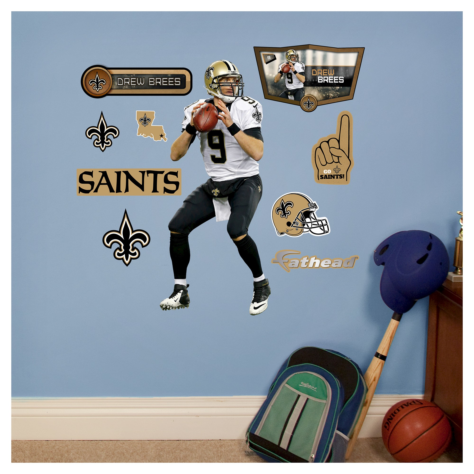 "Also includes separate ""Welcome to Music"" speech bubble that can be  positioned nearby. Fathead wall decals stick on any smooth surface and can  be moved and ..."