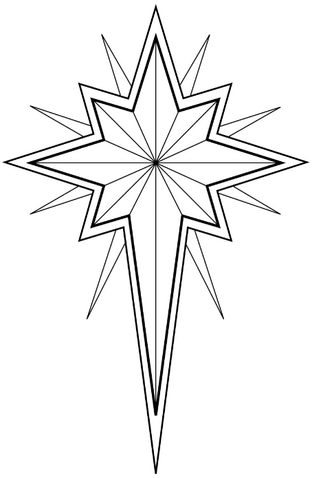 Winter Solstice Star Coloring Pages Star Template Christmas Star