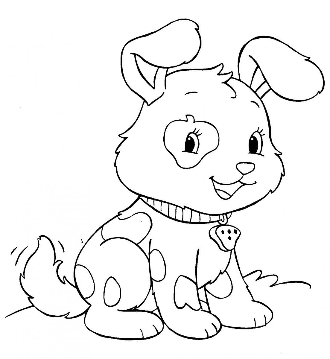 Dibujos Para Colorear E Imprimir | Dibujo de Perrito para colorear ...