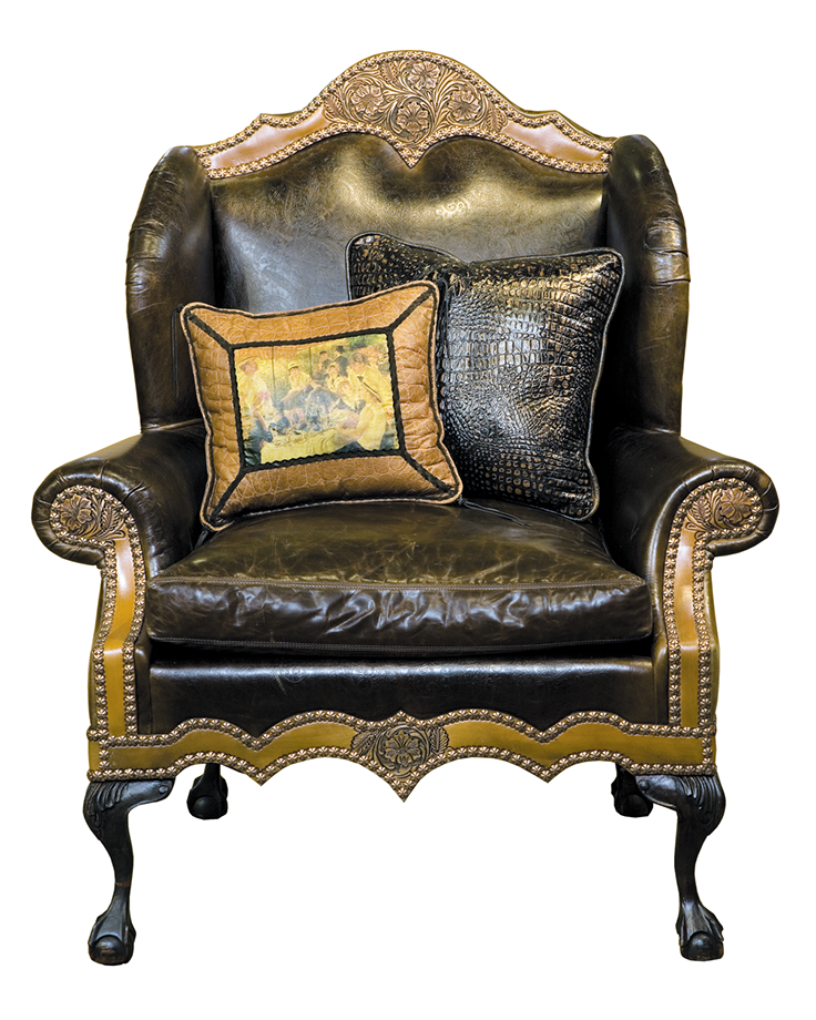 Old World Style Leather Chair