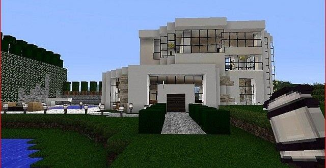 Modern Little Mansion House Minecraft Modern House Blueprints Big Modern Houses Minecraft House Designs